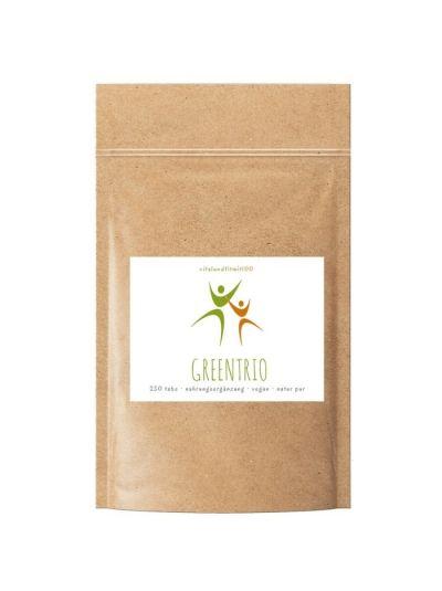 Vitalundfitmit100 GreenTrio (Chlorella, Spirulina, Gerstengras) Tabs 500 Stück à 250 mg