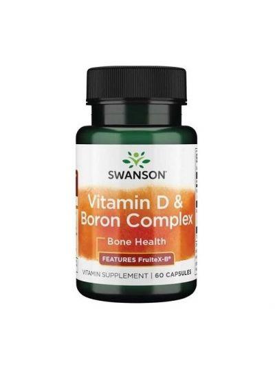 Swanson Vitamin D and Boron Complex, 60 Capsules