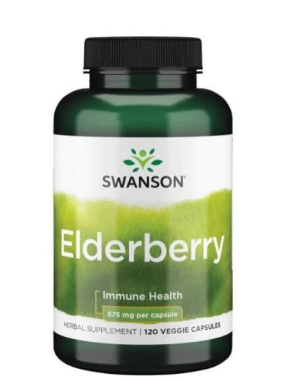 Swanson  Elderberry (Holunder) 575g, 120 vegetabilische Kapseln