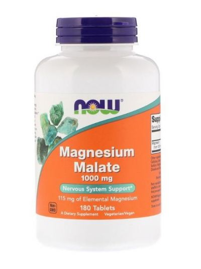 Now Foods Magnesium Malate 1.000 mg 180 Tabletten