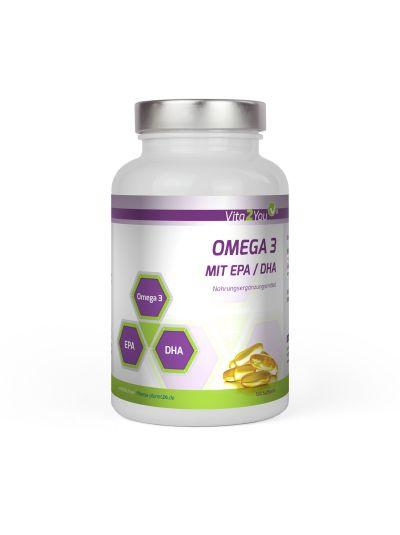 Vita2You Omega 3 1000mg mit EPA & DHA Fischöl 365 Softgels