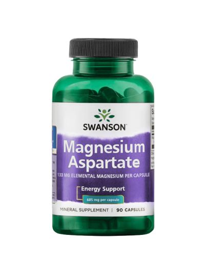 Swanson Magnesium Aspartate 685 mg, 90 Kapseln