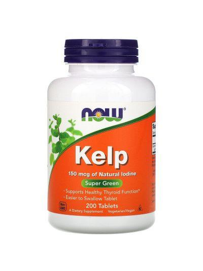 Now Foods Kelp Seetang, (150 mcg Jod), 200 Tabletten