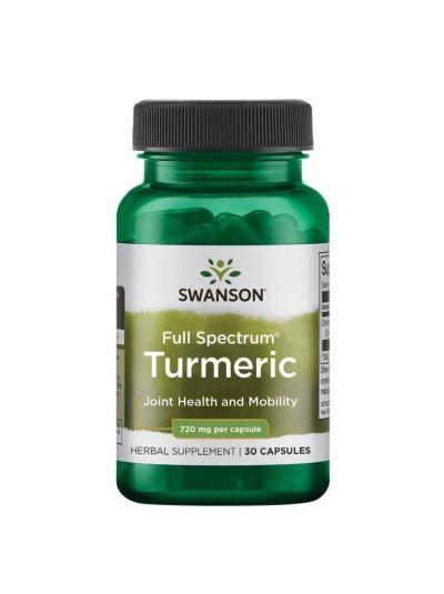 Swanson Premium- Full Spectrum Turmeric 720mg 30 capsules