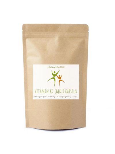 Vitalundfitmit100 Vitamin K2 (MK7 all-trans) Kapseln. 100 Stück à 200 µg
