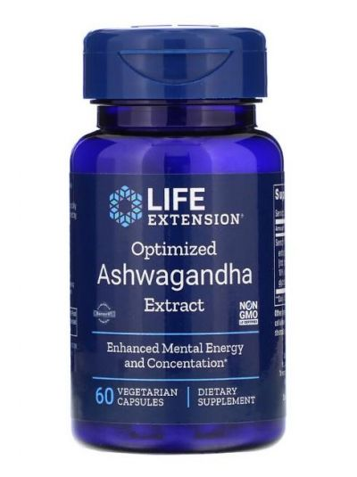 Life Extension OPTIMISED ASHWAGANDHA EXTRACT 60 Kapseln