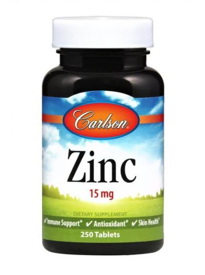 Carlson Labs Zink 15 mg 250 Tabletten