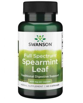 SWANSON PREMIUM-FULL SPECTRUM SPEARMINT LEAF 400MG 60 KAPSELN