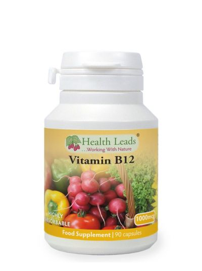HEALTH LEADS VITAMIN B12 METHYLCOBALAMIN 1000MCG  90-360 KAPSELN