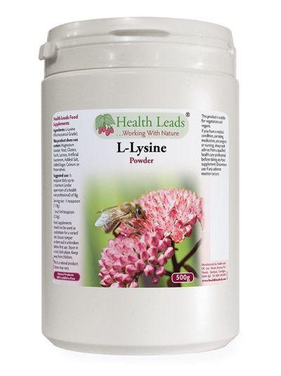 Health Leads 100% pure L-Lysine powder (pharmaceutical grade) 500g