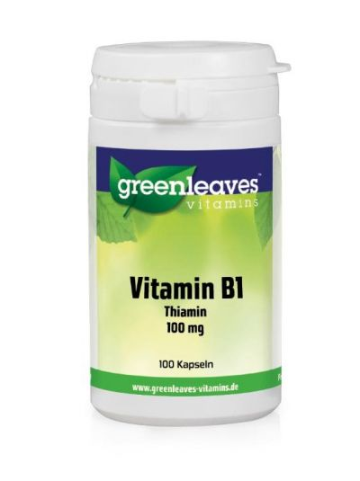 Green Leaves VITAMIN B1 Thiamin 100 MG 100 Kapseln