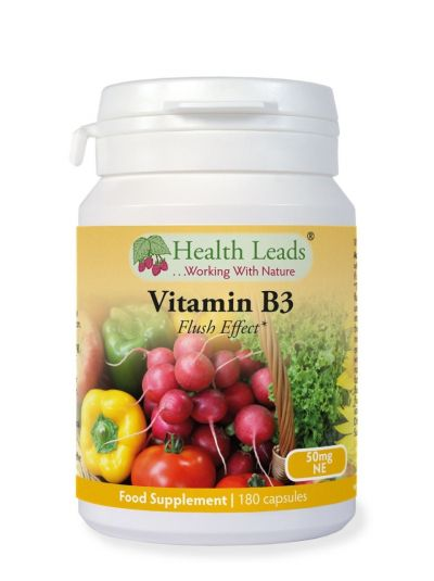 HEALTH LEADS VITAMIN B3 NIACIN 50 MG X 180 KAPSELN