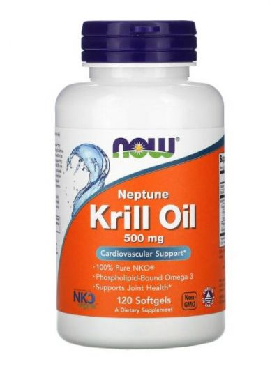 NOW FOODS NEPTUNE KRILL OIL 500 MG, 120 Softgels