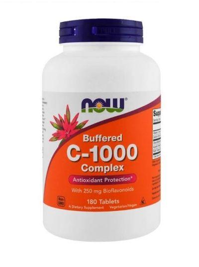 Now Foods C-1000 Komplex Gepuffertes C, langsame Freisetzung 180 Tabletten