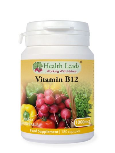 HEALTH LEADS VITAMIN B12 METHYLCOBALAMIN 1000MCG 180 KAPSELN