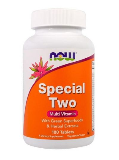 NOW FOODS SPECIAL TWO MULTIVITAMIN, 180 TABLETS