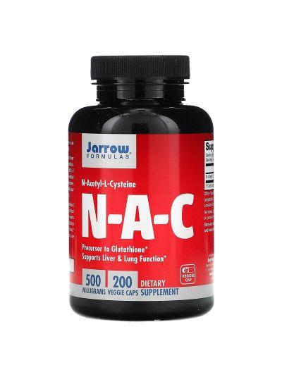 Jarrow Formulas N-A-C N-Acetyl-L-Cystein 500 mg, 200 vegetarische Kapseln