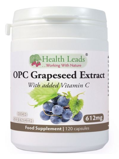 Health Leads Pure OPC Grapeseed Extract 600mg + Vitamin C x 120 caps