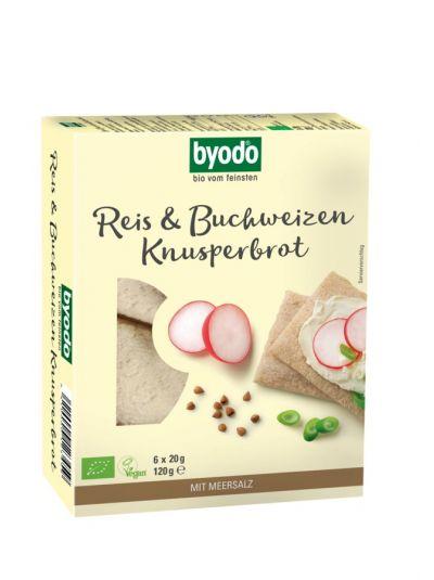 Byodo Feinsten Reis & Buchweizen Knusper-Brot (6 x 20g)