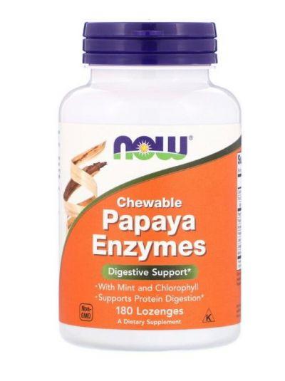 Now Foods Papaya-Enzyme zum Kauen 180 Pastillen