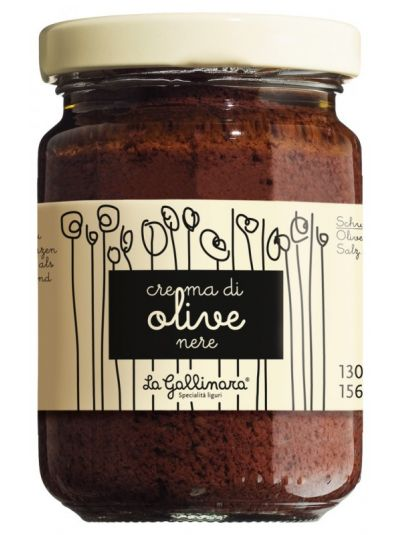 Viani Olivencreme aus schwarzen Oliven ohne Konservierungsstoffe 130g
