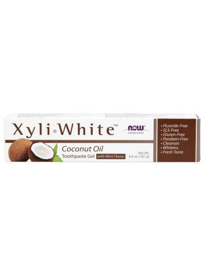 Now Foods XyliWhite Zahnpasta-Gel Kokosnussöl Minzgeschmack 181 g