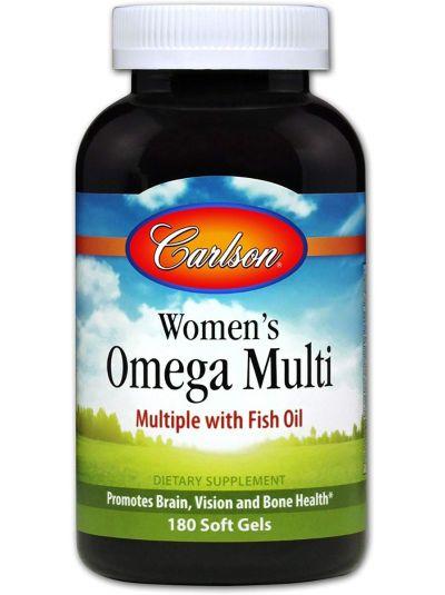Carlson Labs Omega Multivitamin für Frauen, mit Fischöl 60 weiche Gelkapsel