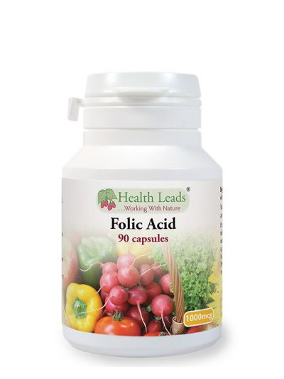 Health Leads FOLIC ACID 1000 MCG X 90 CAPSULES