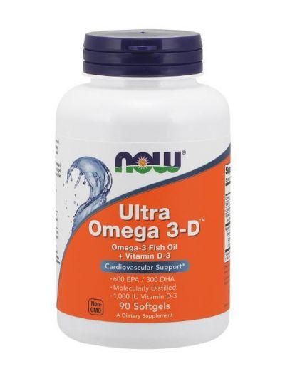 NOW FOODS ULTRA OMEGA 3-D 600 EPA/300 DHA 90 SOFTGELS