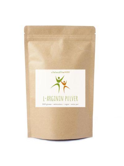Vitalundfitmit100 L-Arginin Base Pulver (pflanzlich) 500 g