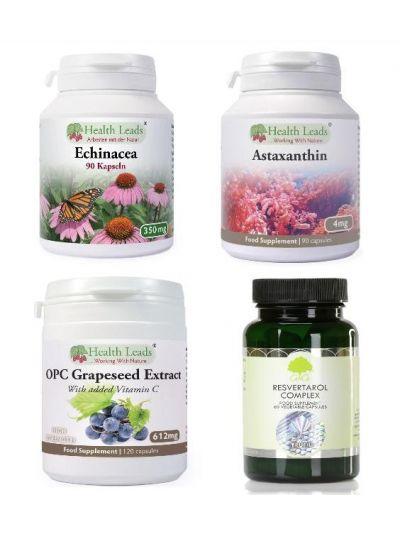 Immunpaket 2  (m. Echinacea, OPC, Reservatrol, Astaxanthin, Guercetin und Grüner Tee)