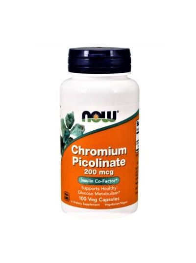Now Foods Chromium Picolinate 200 mcg 100 Capsules