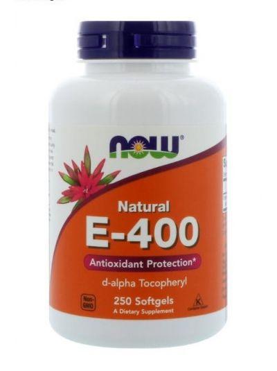 Now Foods Natürliches E-400 250 Softgel-Kapseln