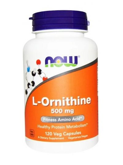 Now Foods L-Ornithin 500 mg 120 Vege Kapseln