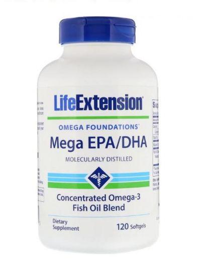 Life Extension Mega EPA/DHA, 120 Softgels