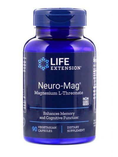 Life Extension NEURO-MAG Magtein MAGNESIUM L-THREONATE 90 Kapseln