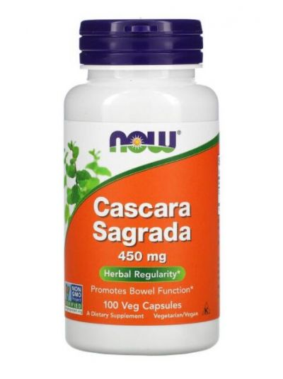 Now Foods Cascara Sagrada 450 mg, 100 Vege capsules