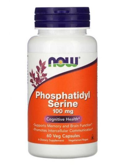 Now Foods Phosphatidyl Serine (with Inositol und Cholin), 100 mg, 60 Veg Capsules