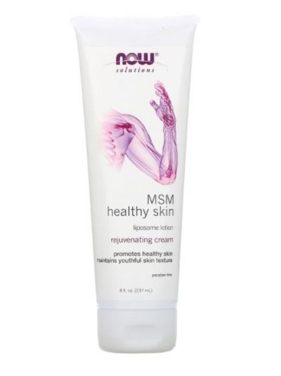Now Foods Solutions MSM Healthy Skin, Liposome Lotion, 237 ml