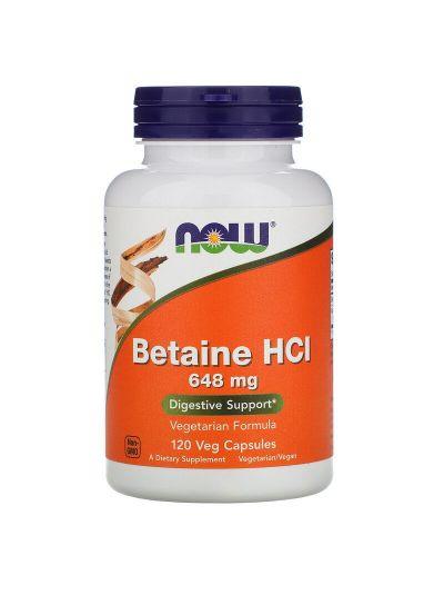 Now Foods Betain HCL, 648 mg, 120 vegetarische Kapseln
