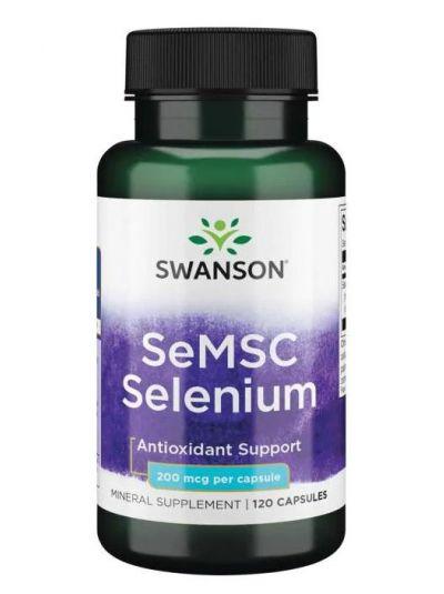 SWANSON SELENIUM FROM SE-METHYL L-SELENOCYSTEIN (SEMSC) 200 MCG 120 VEGETARIAN CAPSULES