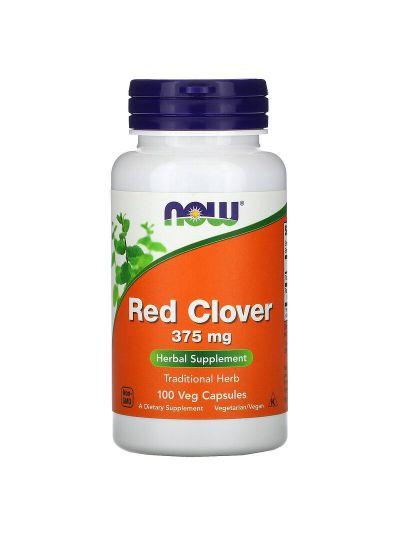 Now Foods Rotklee Red Clover, 375 mg, 100 vegetarische Kapseln