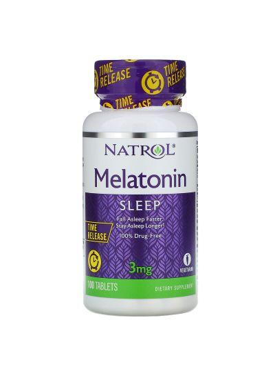 Natrol Melatonin Time Release, 3 mg, 100 Tablets