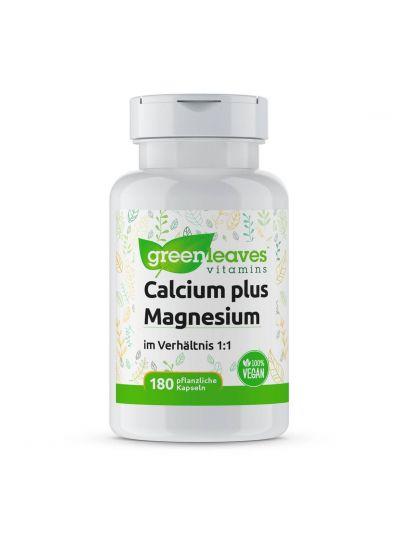 Green Leaves Calcium plus Magnesium Verhältnis 1:1 180 Kaps