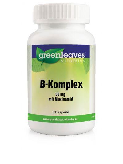Green Leaves Vitamins VITAMIN-B-KOMPLEX MIT NIACINAMID 50 mg 100 Kaps