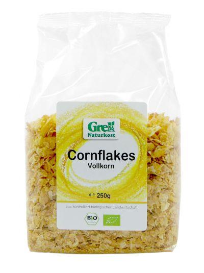 Grell Bio Vollkorn Mais Flocken / Cornflakes ohne Zucker 250g
