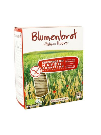 Blumenbrot Bio Hafer Knusperbrot glutenfrei 150g
