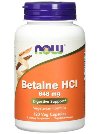 Now Foods Betaine HCL 648 mg 120 Veggie Caps