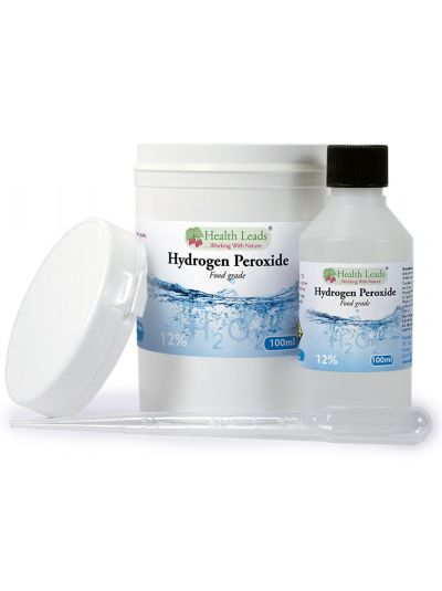 HEALTH LEADS HYDROGEN PEROXIDE H2O2 12% SOLUTION 100 ML