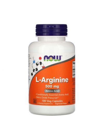 NOW Foods L-Arginine, 500 mg, 100 Capsules